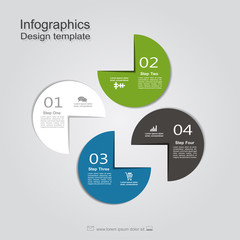 Template with place for your data. Vector illustration.