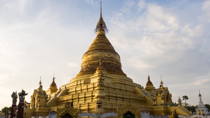 Beautiful Khuthodaw Pagoda, Mandalay, Myanmar