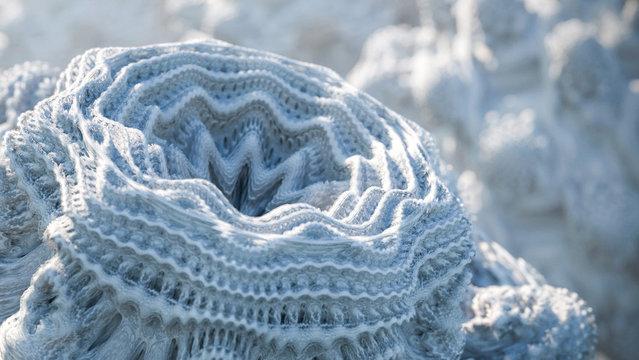 Microscopic bacteria. 3D generated macro image.