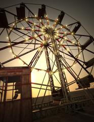 3D Rendering Ferris Wheel