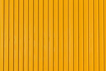 yellow corrugated wall, yellow steel background