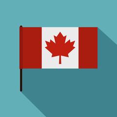 Canadian flag icon, flat style