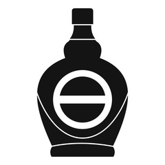 Maple syrup in glass bottle icon, simple style