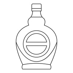 Bottle icon, outline style