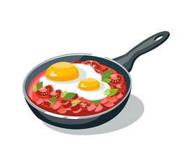 omelette pan scrambled eggs sauce omelet
