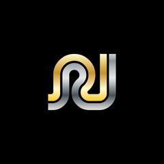 Initial Letter RI RJ Linked Design Logo