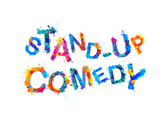 Stand-up comedy. Vector splash paint