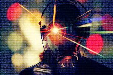 cyber hacker background