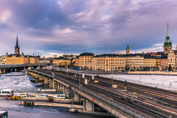 January 21, 2017: Subway railway in the old town of Stockholm, Sweden