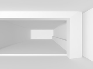 Abstract White Architecture Geometric Background