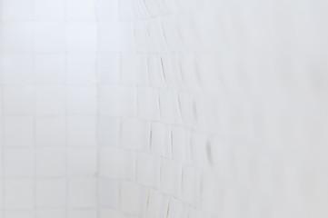 Weisser Hintergrund / Abstrakter weisser Hintergrund mit Textur und geringer Tiefenschaerfe.
