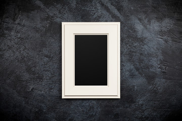 Picture frame on dark background