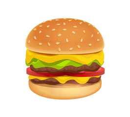Icon of Colorful Tasty Burger