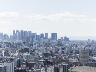 東京風景(文京区シビックセンターから新宿方面)