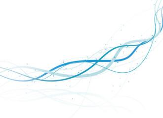 ラインアート 波線(青)