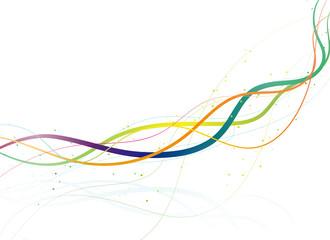ラインアート 波線(カラフル)