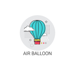 Air Balloon Trip Travel Tourism Icon Vector Illustration