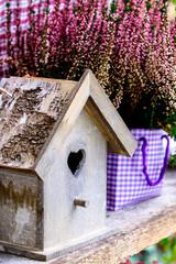 wooden birdhouse