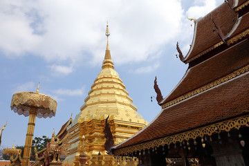 wat phra that doi suthep in chaingmai thailand