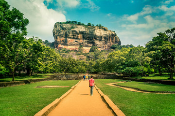 Sigiriya the lion rock in Sri Lanka