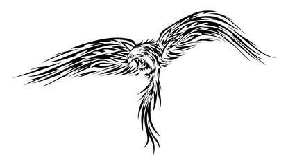 Phoenix or Eagle tattoo or Stencil