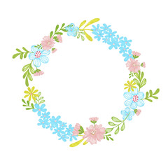 Hand-Painted Wreath