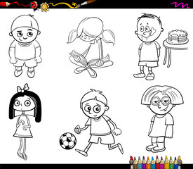 kids characters coloring page