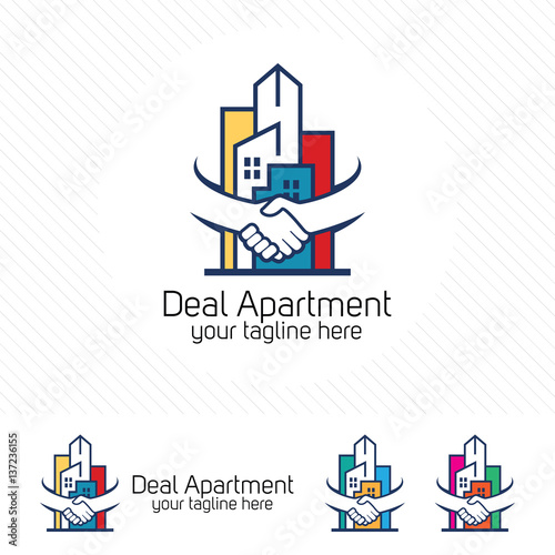 Property deal logo design vector real estate or for Apartment logo design