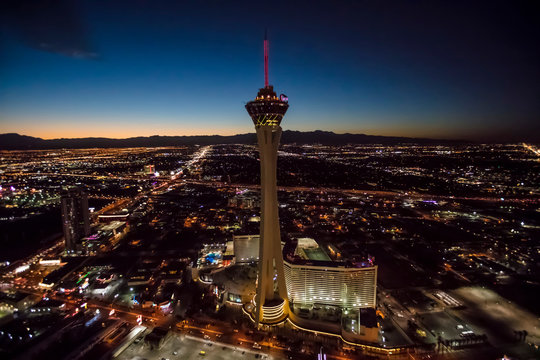 Stratosphere Casino Hotel and tower, Las Vegas, Nevada, USA