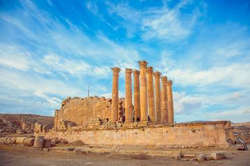 Ancient Temple of Artemis in the city of Jerash, Jordan
