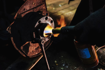 burner gas hub