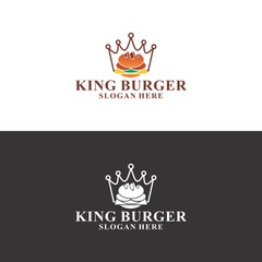 king burger logo in vector