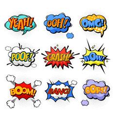 Oh and splash, boom and bang comic bubles