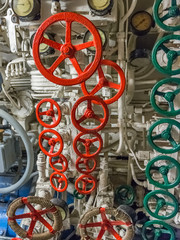 view of the engine room of the ship