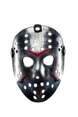 Hockey mask of serial killer isolated on white