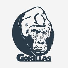 Gorilla head logo design