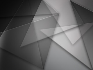 abstract gray background with triangles