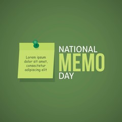 National Memo Day Vector Illustration. Suitable for Greeting Card, Poster and Banner
