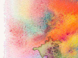 Color and texture of hand painted watercolor on paper