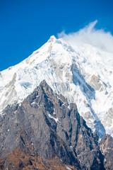 Langtang Lirung Mountain Peak Closeup Panorama V