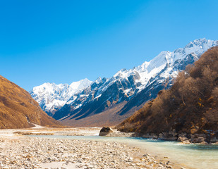 Langtang Valley Himalayan Mountain Range River H