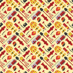Firefiters pattern vector illustration.
