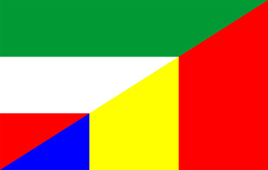 hungary romania flag