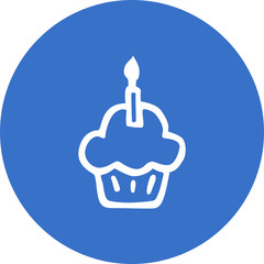 anniversary-celebration-with-one-candle icon