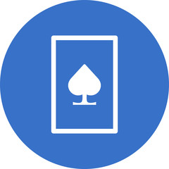 spade on playing card icon