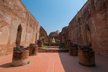 Historical old temple at Ayutthaya, Thailand