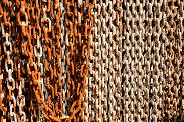 Rusty chain background