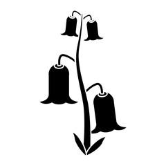 bell flowers flora botany pictogram vector illustration eps 10