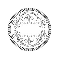 round scroll decorative frame vector illustration eps 10
