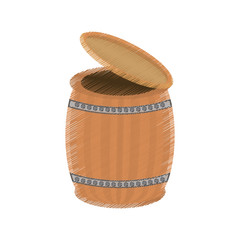 drawing st patricks day wood barrel open vector illustration eps 10